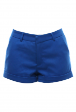 กางเกงขาสั้นสีน้ำเงิน ผ้าคอตตอน
