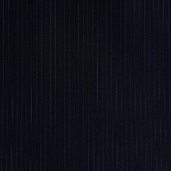 DARK NAVY PINSTRIPE THIN WOOL BLEND