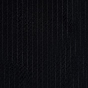 VERY DARK NAVY (MOSTLY BLACK) PINSTRIPE THIN WOOL BLEND