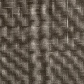 BROWN GRAY GaLEN PLAID WOOL BLEND