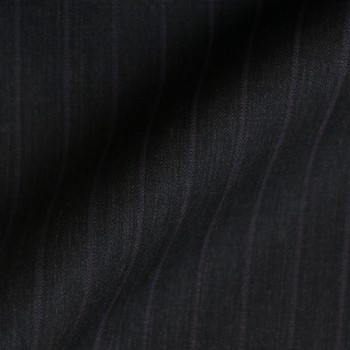 DARK GREY & PURPLE STRIPE WOOL BLEND