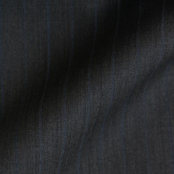 DARK GREY & BLUE STRIPE WOOL BLEND