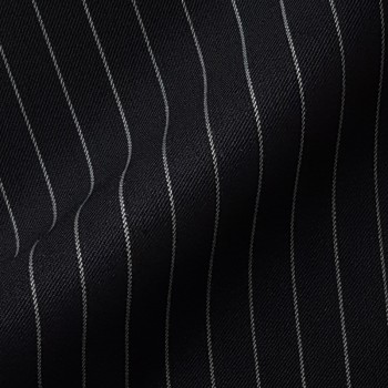 BLACK CHALK STRIPE WOOL BLEND