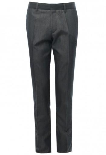 กางเกงขายาวสีเทา ผ้าทอพิเศษ