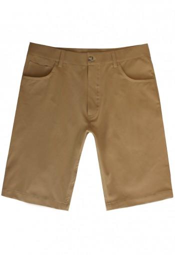 กางเกงขาสั้นสีน้ำตาล Cotton-Spandex