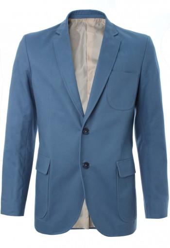 เสื้อสูทสีฟ้าเข้มสไตล์แคชชวล