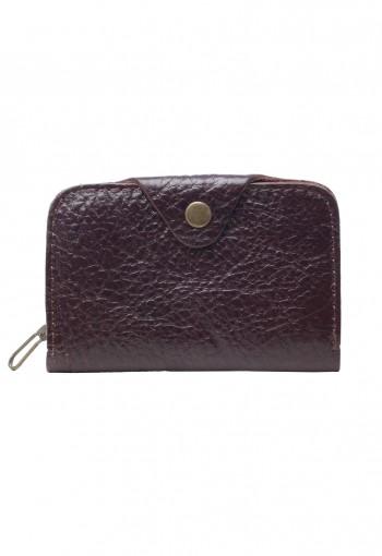 กระเป๋ากุญแจและการ์ด หนังสีน้ำตาล