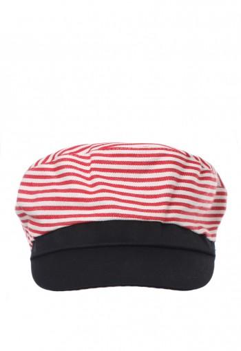 หมวกสีขาวแดงลายทาง