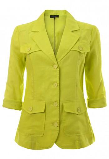 เสื้อแจ็คเก็ตสีเขียวเลม่อน