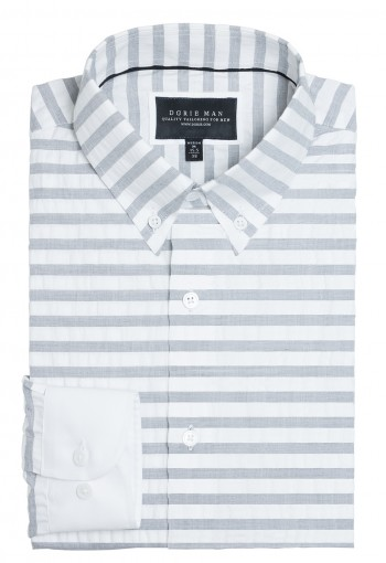GRAY HORIZONTAL STRIPE SHIRT
