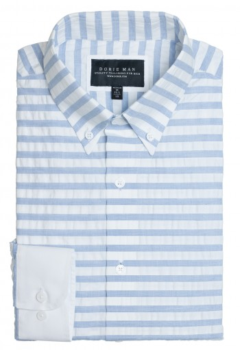 BLUE HORIZONTAL STRIPE SHIRT