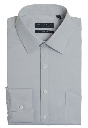 GRAY HERRINGBONE SHIRT