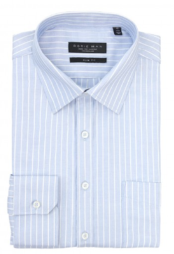 BLUE OXFORD STRIPE SHIRT