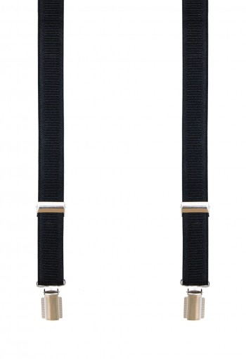 PLAIN BLACK SUSPENDERS (1) 2.5 CM