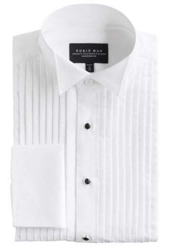 WHITE WINGTIP SHIRT