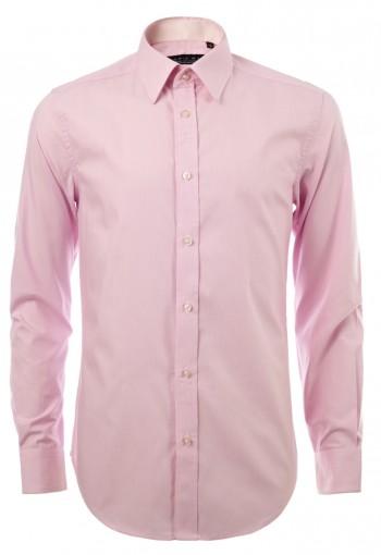 เสื้อเชิ้ตลายทางสีชมพู