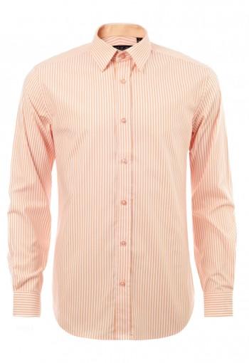 เสื้อเชิ้ตลายทางสีส้ม