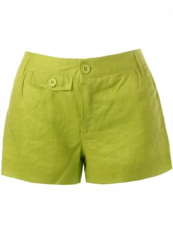 กางเกงขาสั้นสีเขียวเลม่อน