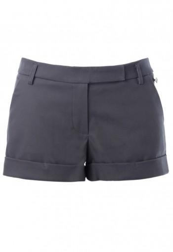กางเกงขาสั้นผ้ายืดสีเทา