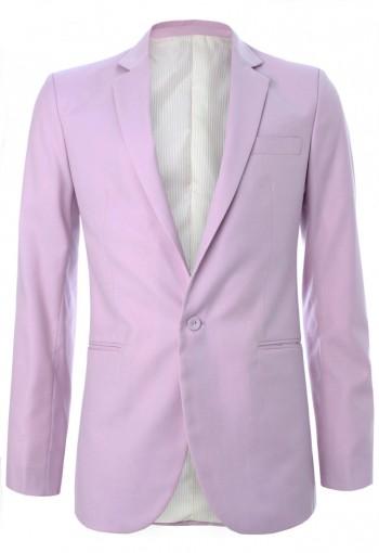 เสื้อสูทผ้าวูลสีม่วงพาสเทล