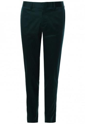 กางเกงขายาว สีเขียว Cotton Spendex