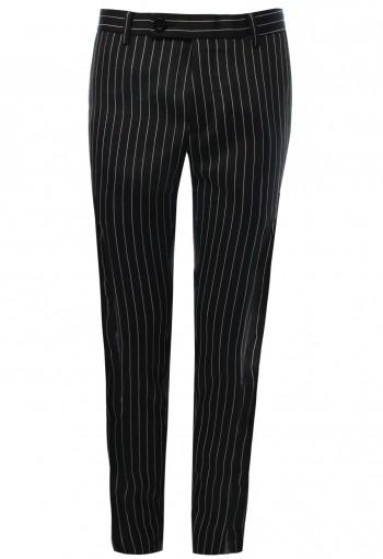กางเกงลายทางสีดำ