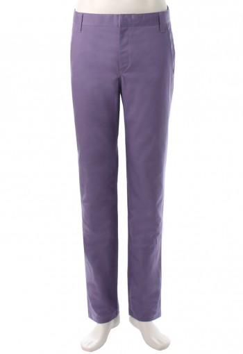 กางเกงสีม่วงขากระบอกเล็ก