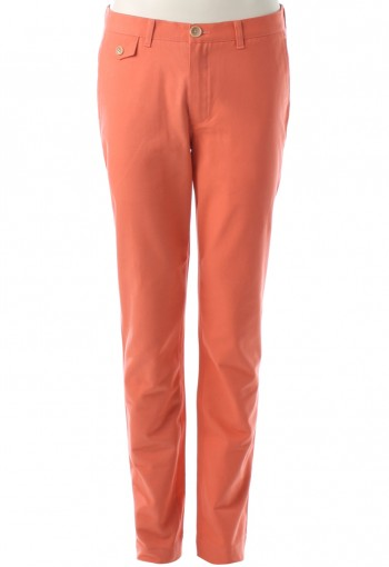 กางเกงสีส้มทรงกระบอก