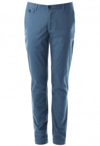กางเกงสีน้ำเงินทรงกระบอก