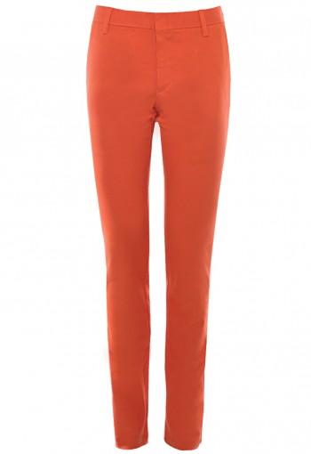 กางเกงขายาว ผ้าคอตตอนสแปนเด็กซ์ สีส้ม