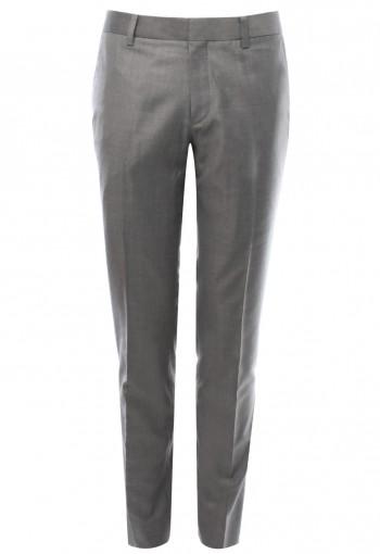 กางเกงสีเทา 150s ทรงกระบอกเล็ก