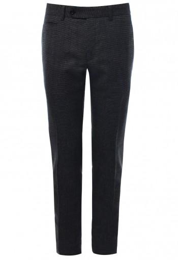 กางเกงขายาว ทอลาย สีเทาเข้ม Classic