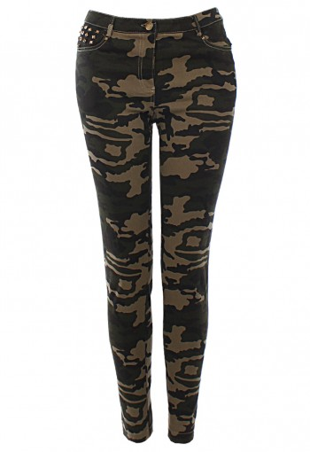 กางเกงขายาวลายทหาร