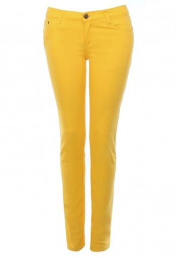 กางเกงยีนส์ สกินนี่ สีเหลือง