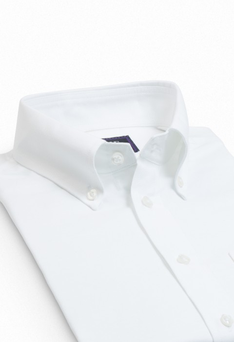 WHITE OXFORD BUTTON DOWN SHIRT