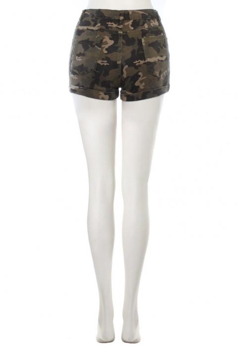 กางเกงขาสั้นลายทหาร