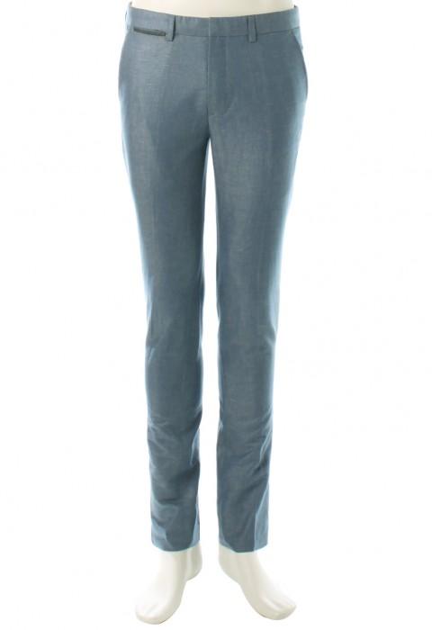 กางเกงทรงสกินนี่ สีน้ำเงินสไตล์ยีนส์