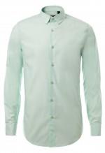เสื้อเชิ้ตปกเล็กสีเขียวมินท์