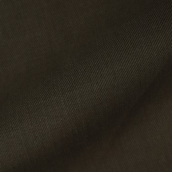 DARK BROWN TWILL WOOL BLEND