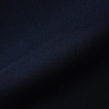 VERY DARK BLUE HERRINGBONE WOOL BLEND