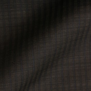 VERY DARK GREY & BLUE STRIPE WOOL BLEND