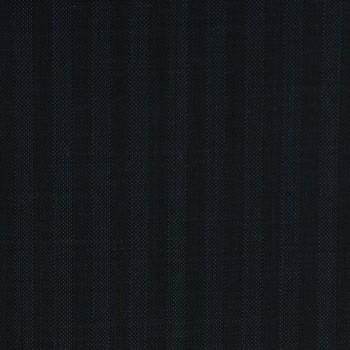 VERY DARK BLUE (MOSTLY BLACK) STRIPE WOOL BLEND