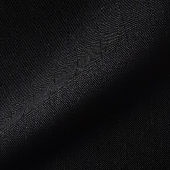 VERY DARK GREY (MOSTLY BLACK) LARGE PINSTRIPE WOOL BLEND