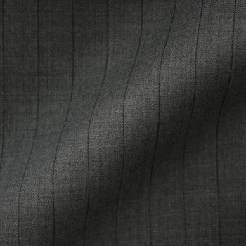 DARK GREY PINSTRIPE LARGE WOOL BLEND