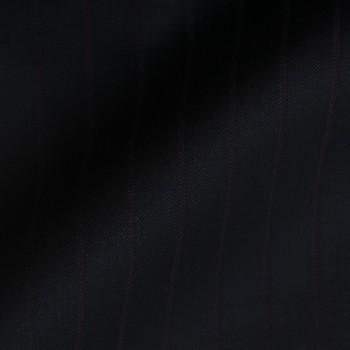VERY DARK NAVY BLUE (MOSTLY BLACK) & PURPLE STRIPE WOOL BLEND