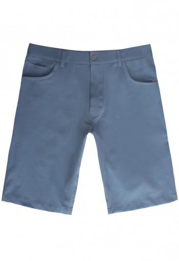 กางเกงขาสั้นสีฟ้า Cotton-Spandex