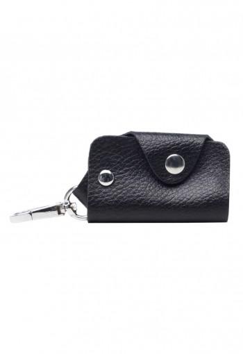 กระเป๋ากุญแจหนังสีดำ