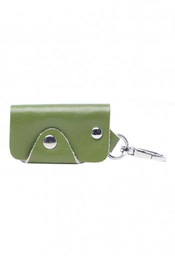 กระเป๋ากุญแจหนังสีเขียว