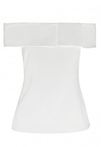 เสื้อเกาะไหล่สีขาว