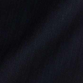 DARK NAVY HERRINGBONE WOOL BLEND